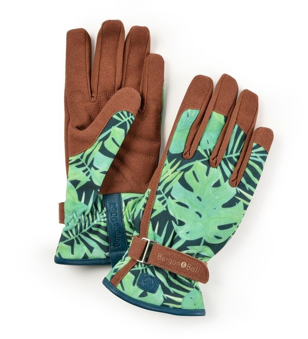 Burgon & Ball Damen-Gartenhandschuhe Love The Glove Tropical S/M