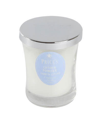Duftkerze im Glas mit Deckel Price´s Candle Cotton Powder h9,5 cm